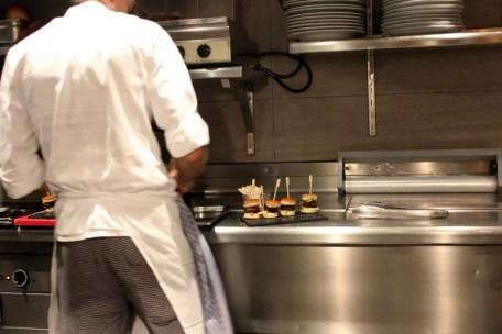 Blick in die Küche, Taverne, Sheraton