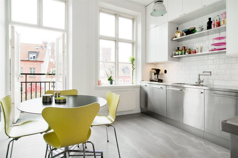Cocina industrial y suelo de cemento   blog decoración estilo ...