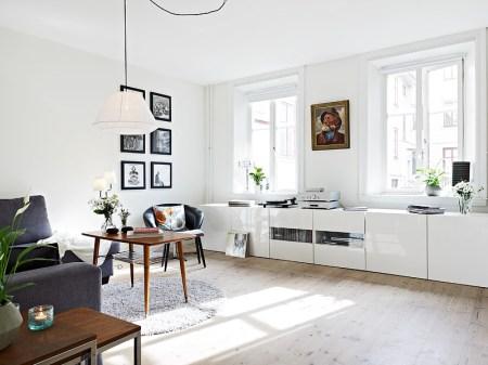 Mueble bajo en el sal n blog decoraci n estilo n rdico - Muebles bajos para salon ...
