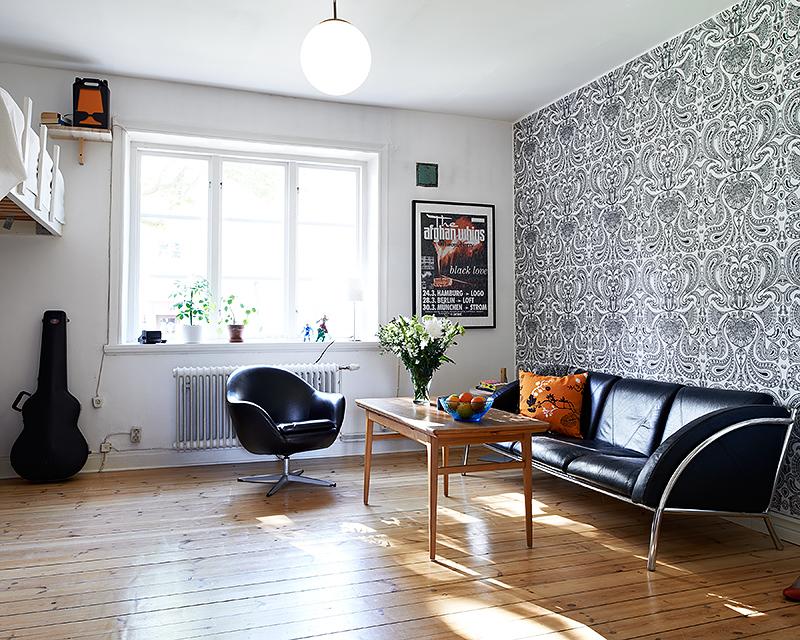 Otro peque o estudio de 33 5m con cama elevada blog decoraci n estilo n rdico delikatissen - Decoracion de loft pequenos ...