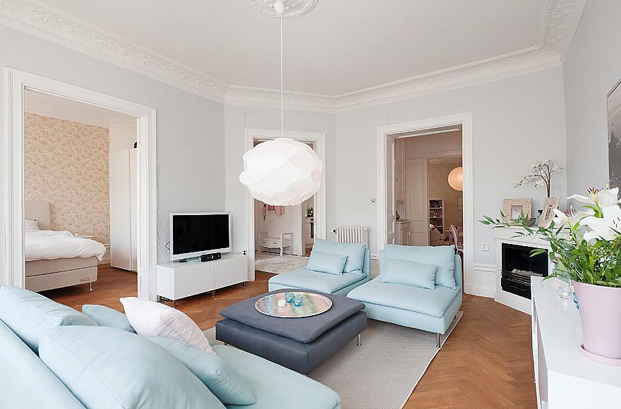 Decoraci n n rdica en blanco y colores pastel blog - Blog decoracion de interiores ...