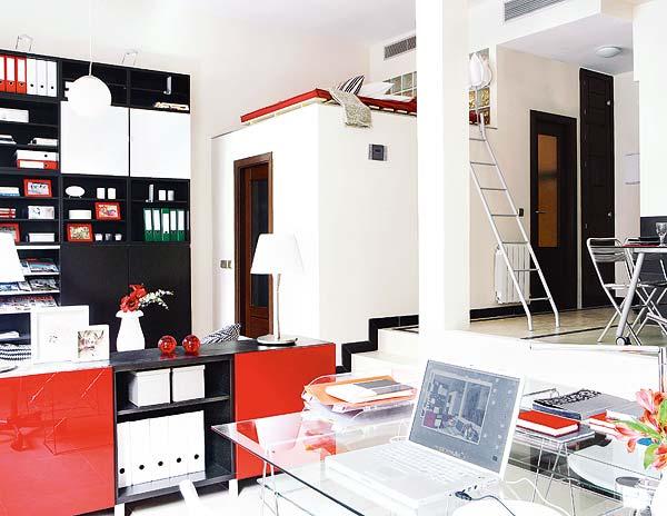 Un tico di fano en blanco rojo y negro blog tienda - Pisos diafanos madrid ...