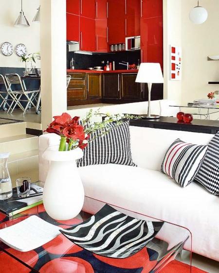 Un tico di fano en blanco rojo y negro blog tienda for Pisos diafanos madrid