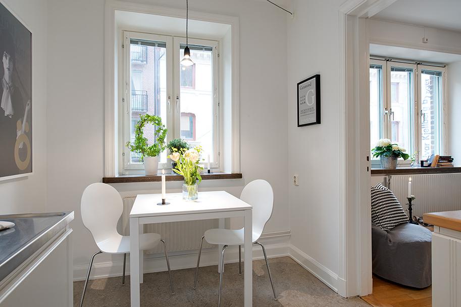 Mini piso de 40 m de estilo escandinavo blog tienda for Como organizar un apartamento muy pequeno