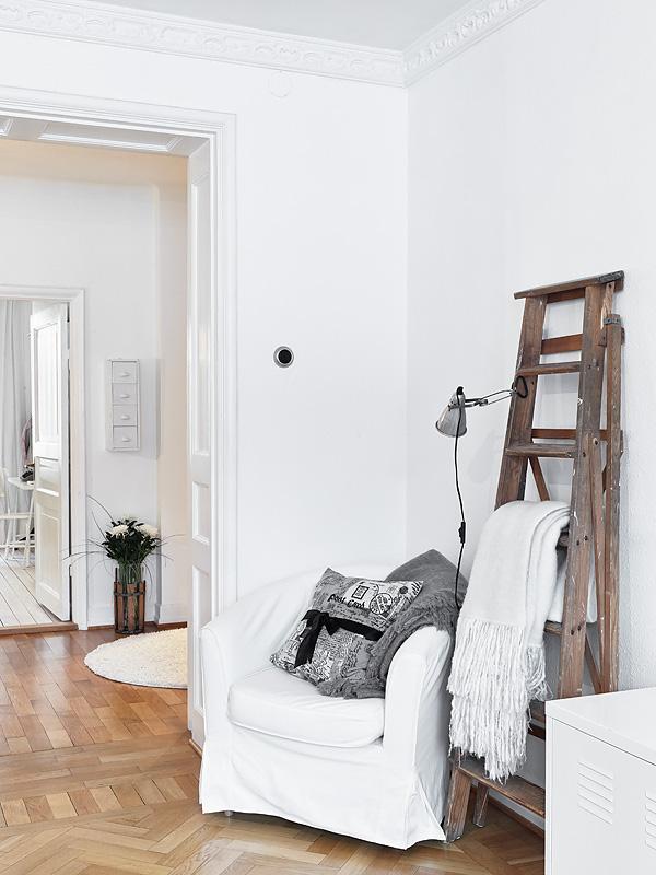 Decoraci n femenina rom ntica en blanco gris y rosa for Muebles suecos