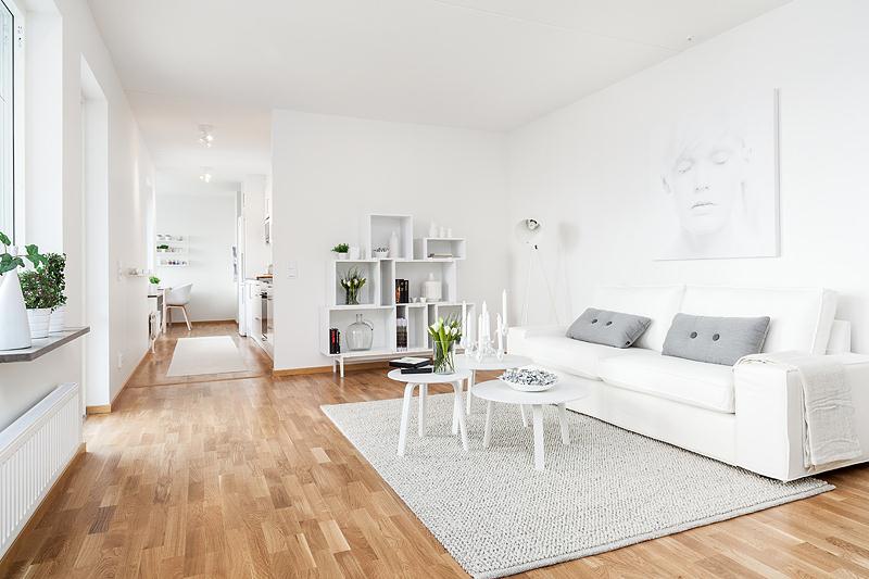 Decoraci n n rdica en blanco blog tienda decoraci n for Decoracion muebles blancos