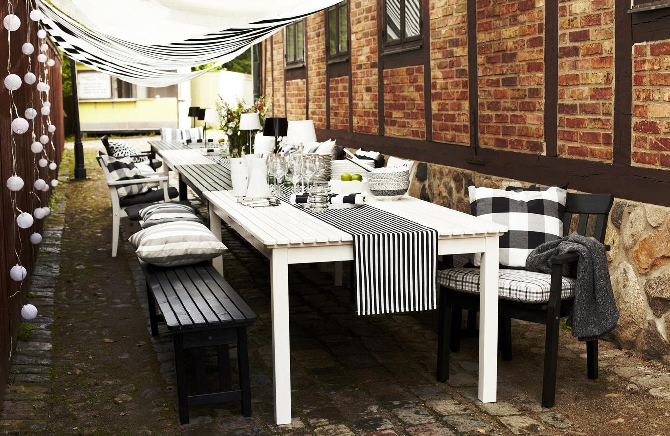 Ikea en el jard n y en la terraza en blanco y negro blog for Comedores exteriores para terrazas