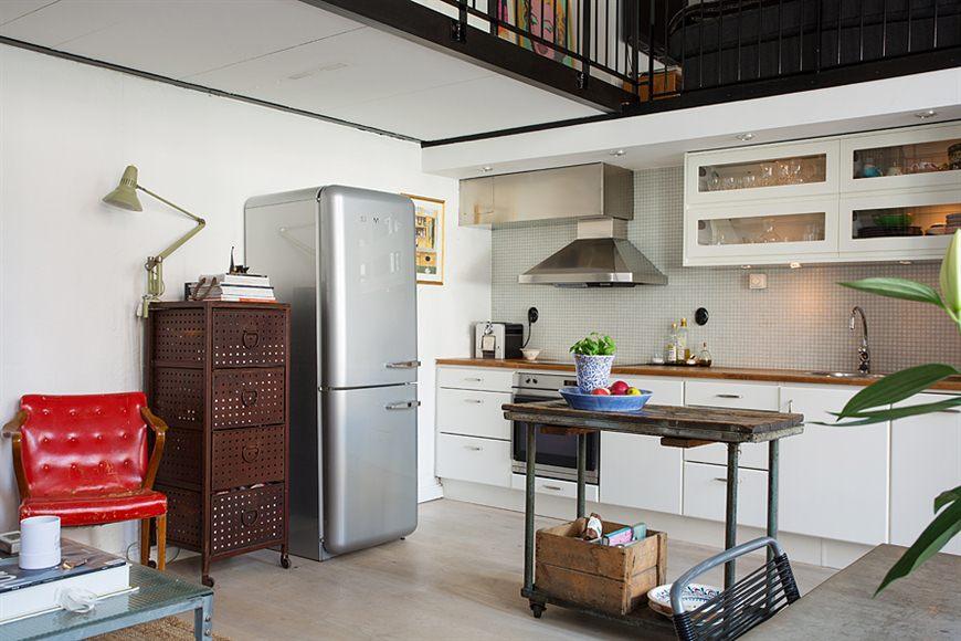 Loft de 67 m de estilo n rdico industrial blog tienda for Cocina industrial tipo loft