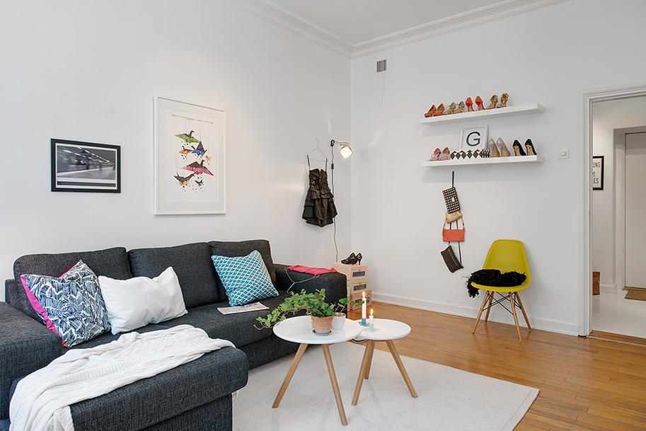 El mini piso de una apasionada de los zapatos blog for Ikea amueblar piso pequeno