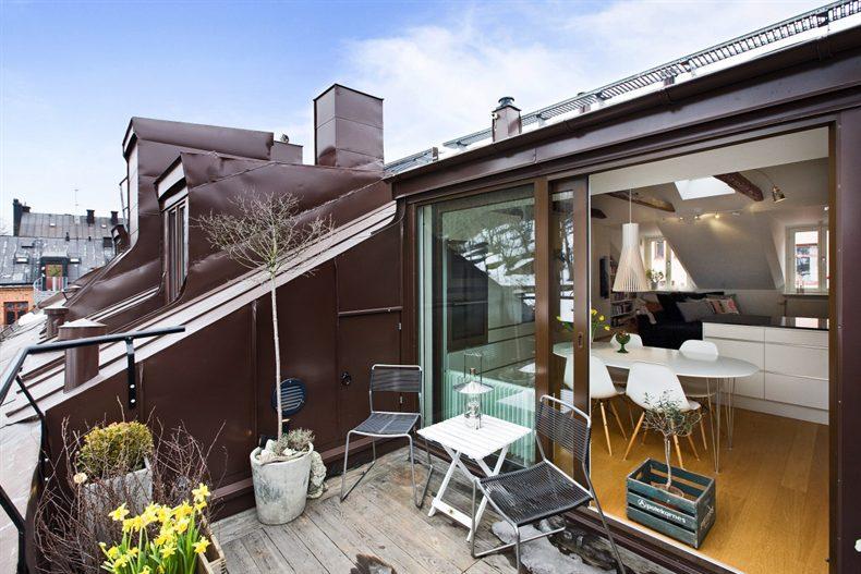 Tico sueco que enamora blog tienda decoraci n estilo - Decoracion de terrazas de aticos ...