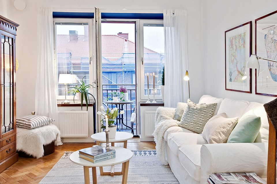 Un mini piso de 38 m con mucho encanto blog tienda for Decoracion de pisos interiores