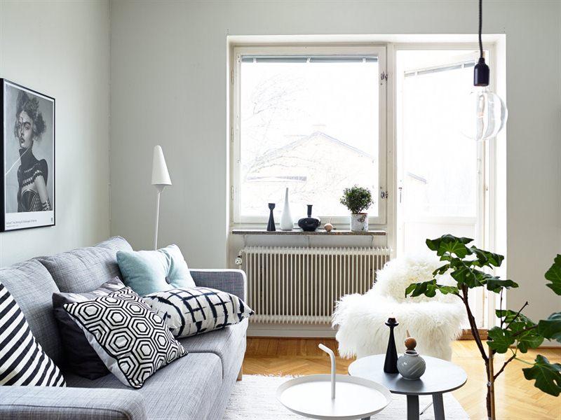 Un interior en armon a gris blanco y madera blog - Decoracion blanco y gris ...