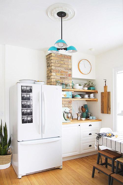 Antes despu s reforma de una cocina con pintura blog - Cocinas vintage blancas ...
