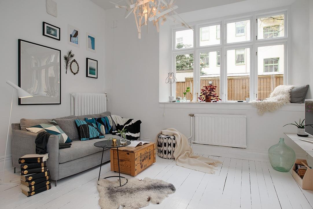 interiores espacios pequeos estilo nrdico escandinavo dormitorio en altillo distribucin piso ingeniosa decoracin pisos pequeos decoracin