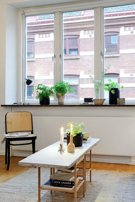 Piso peque o con amplio sal n y terraza comunitaria blog for Terrazas pisos decoracion