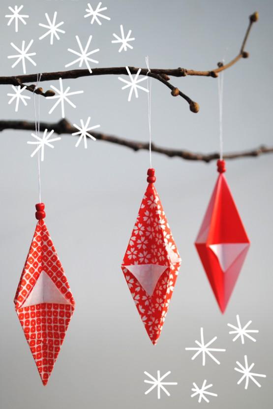 DIY - Adornos navideños origami