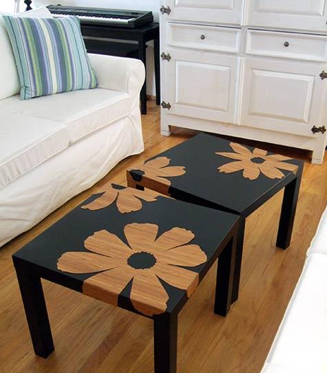 Diy ikea hack mesa auxiliar lack blog tienda for Mesa auxiliar estilo nordico