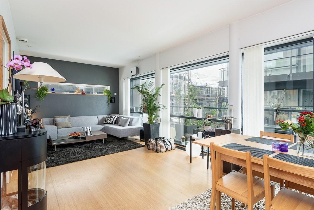 65m con cocina comedor sal n abiertos blog tienda for Decoracion de espacios pequenos con plantas