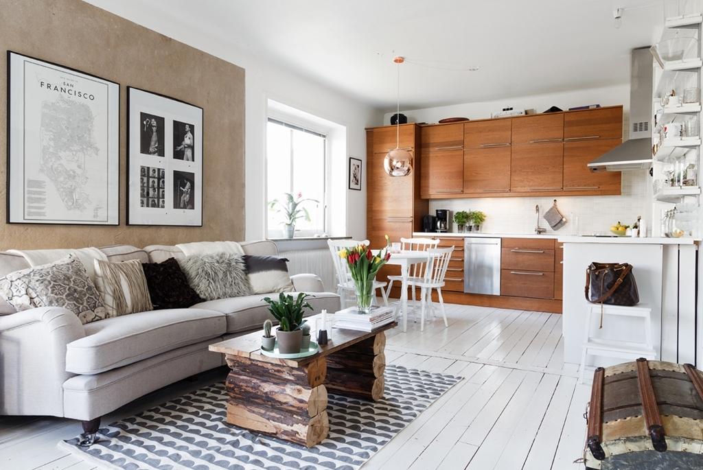 Mini piso de 40 m con amplio sal n blog tienda for Pisos de 40 metros decoracion