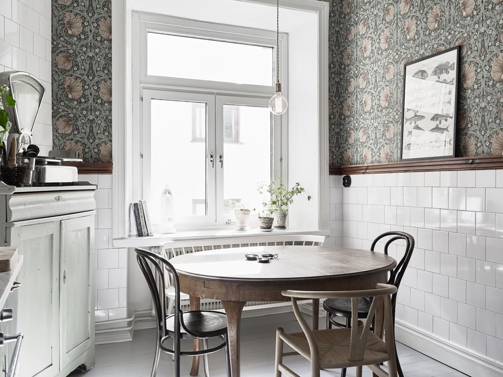 Cocina de acero inoxidable blog tienda decoraci n estilo for Papel pintado cocina ikea