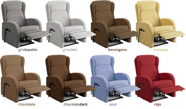 Sill sillones reclinables y con elevador blog tienda decoraci n estilo n rdico - Sillones de tela ...