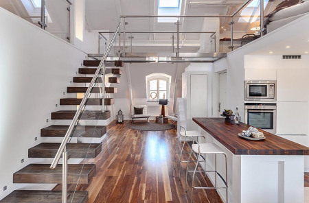 19 escaleras en pisos nórdicos - Blog decoración estilo nórdico ...