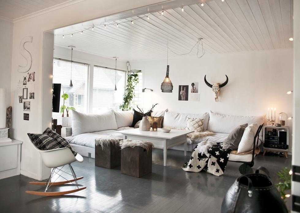 Suelo de madera pintado en alto brillo blog tienda for Casa al dia decoracion