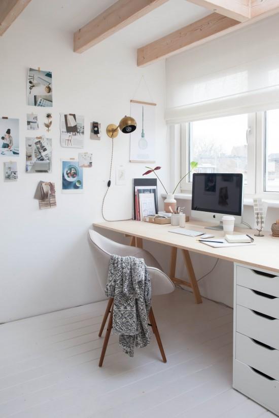 Antes/después – transformando el ático en una oficina de estilo ...