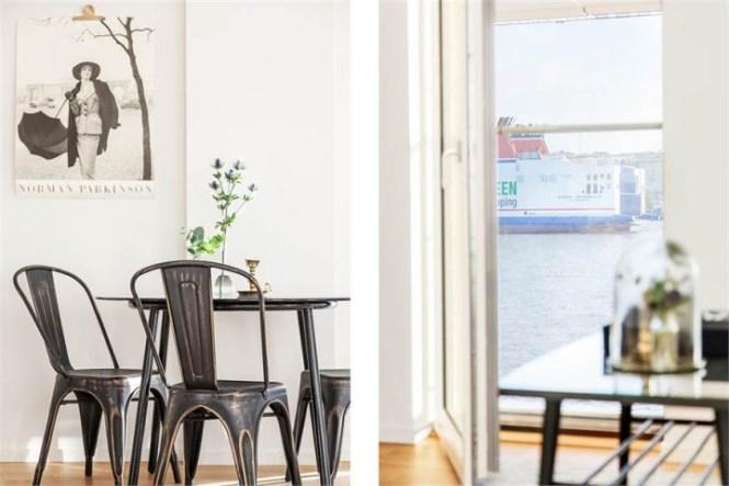 Pequeño piso con gran exterior mobiliario ligero nórdico interiores pisos pequeños estilo nórdico escandinavo diseño decoracion interiores decoración pisos pequeños decoración exterior balcon decoración estudio dormitorio decoración en blanco y gris blog decoración nórdica