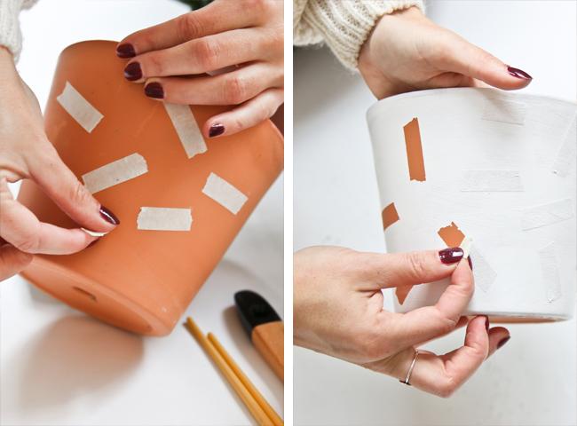 Diy pinta tus macetas de barro o de pl stico para darles - Decoracion de macetas de plastico ...