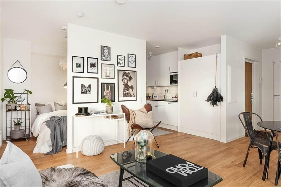 30 Home Decorating Ideas For Small Apartments: Pequeño Piso Con Gran Exterior