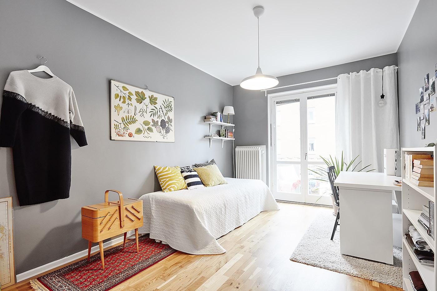 Habitaciones juveniles de estilo n rdico blog tienda for Decoracion dormitorio gris
