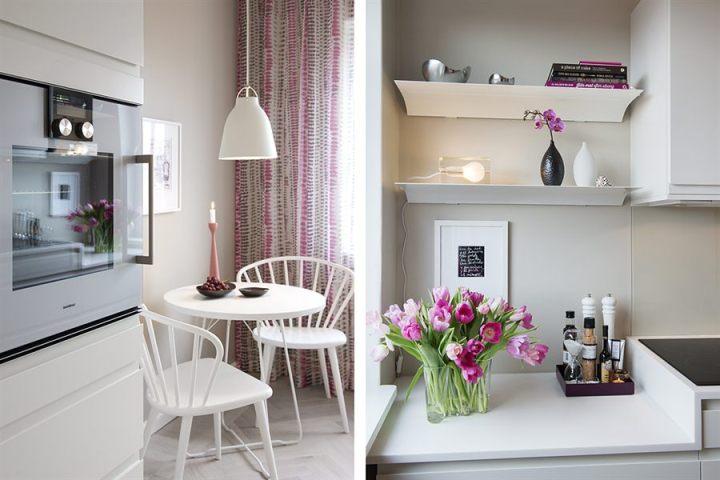 piso pequeño bien aprovechado estilo nórdico decoración primavera decoración minipisos decoración interiores pisos pequeños decoración en blanco cocina nórdica blanca blog decoración nórdica
