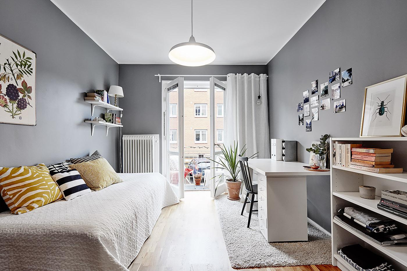 Habitaciones juveniles de estilo n rdico blog tienda for Corredor deco blanco y gris
