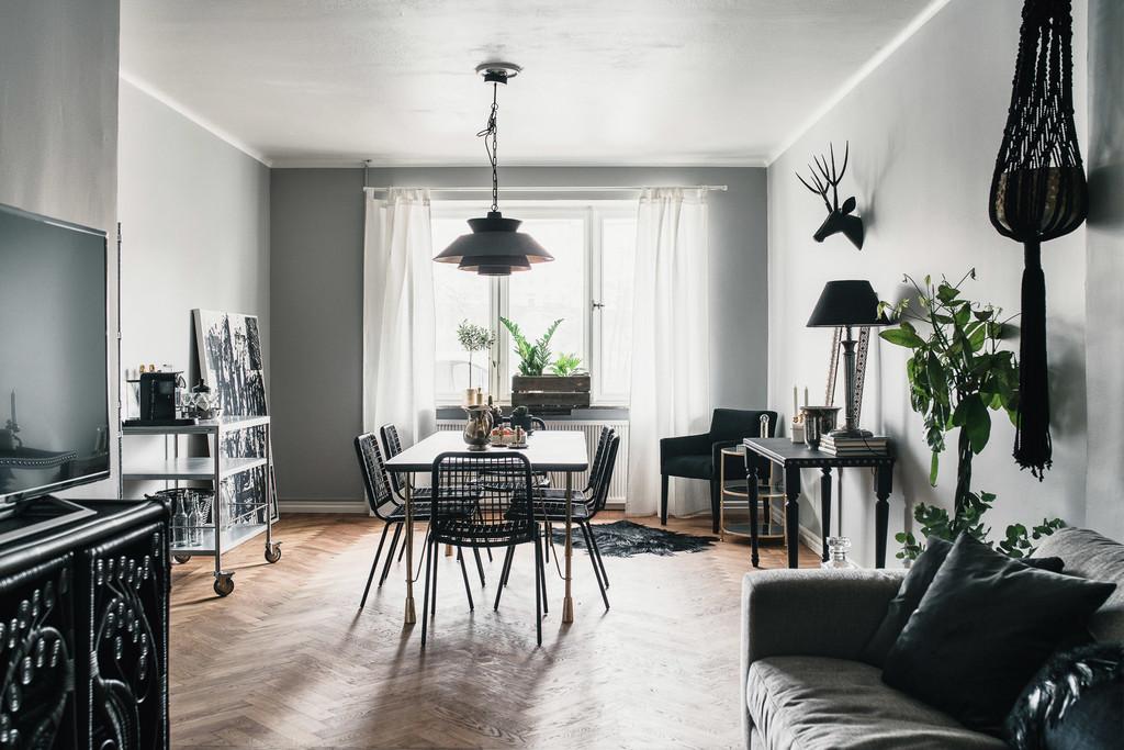 Estilo n rdico masculino en negro blog tienda decoraci n for Decoracion de deptos pequenos fotos