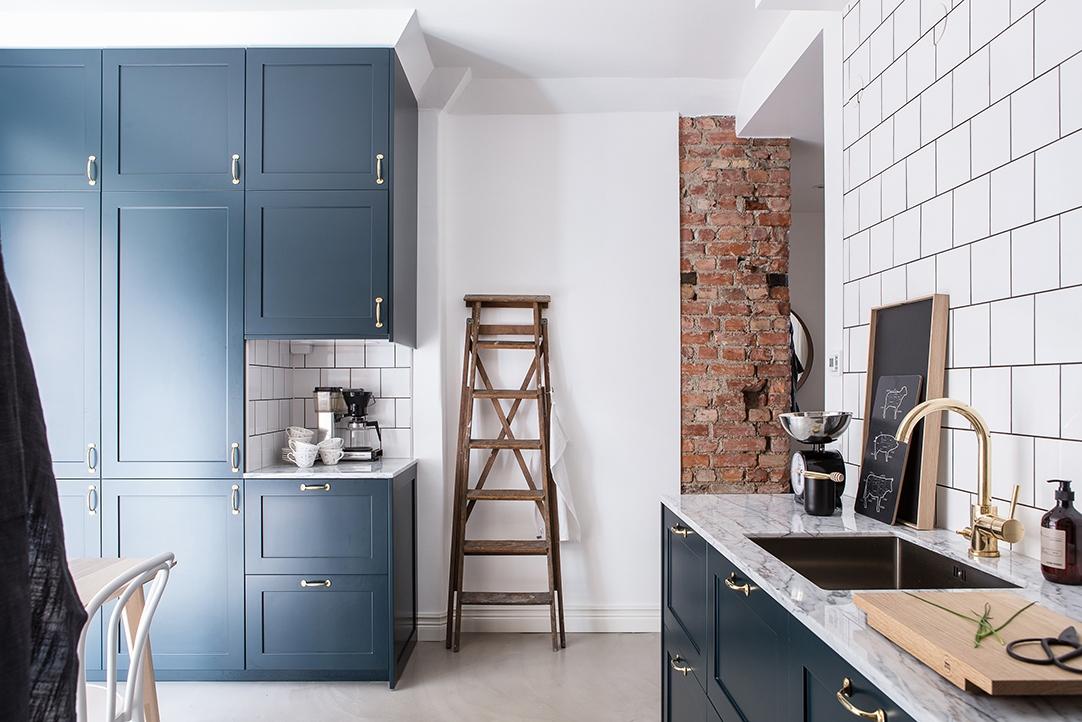Revestimientos de cocina ladrillo visto cemento pulido m rmol baldosa y madera blog tienda - Cocina cemento pulido ...