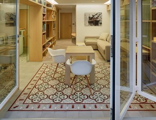 decoración interiores, diseño interiores, estilo nórdico, muebles a medida, muebles de diseño, muebles giratorios, muebles mecano, Reforma de piso con terraza en Ourense, reformas galicia