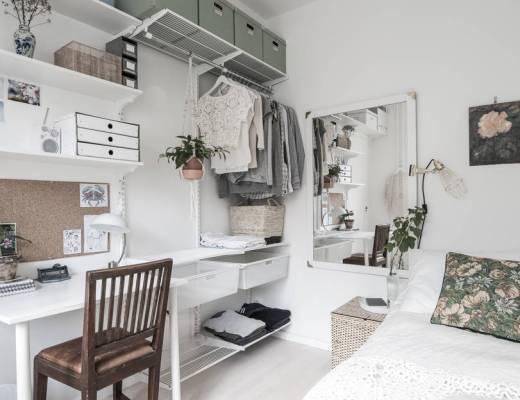 45 metros cuadrados en clave nórdica, blog decoración nórdica, cocina blanca nordica pequeña, decoración en blanco, decoración minipisos, decoración pisos pequeños, estilo nórdico