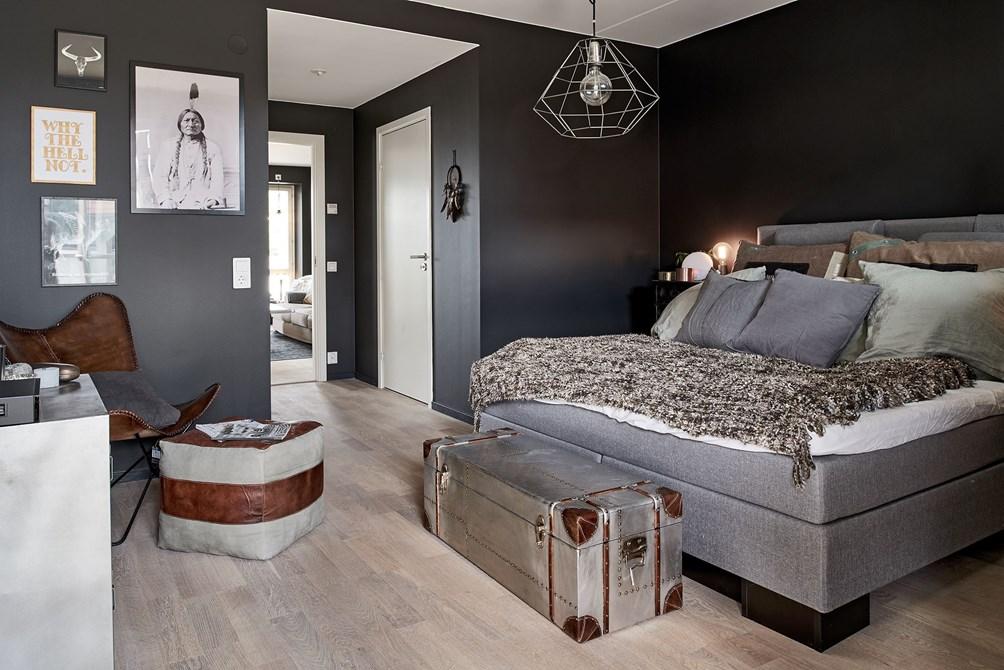 Paredes negras en todas las habitaciones blog tienda for Decoracion paredes interiores