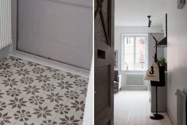 Reforma de un piso 36 m² en Malmö pared de cristal minipisos interiores intimidad decoración decoración pisos pequeños decoración interiores deco pisos suecos blog decoración nórdica