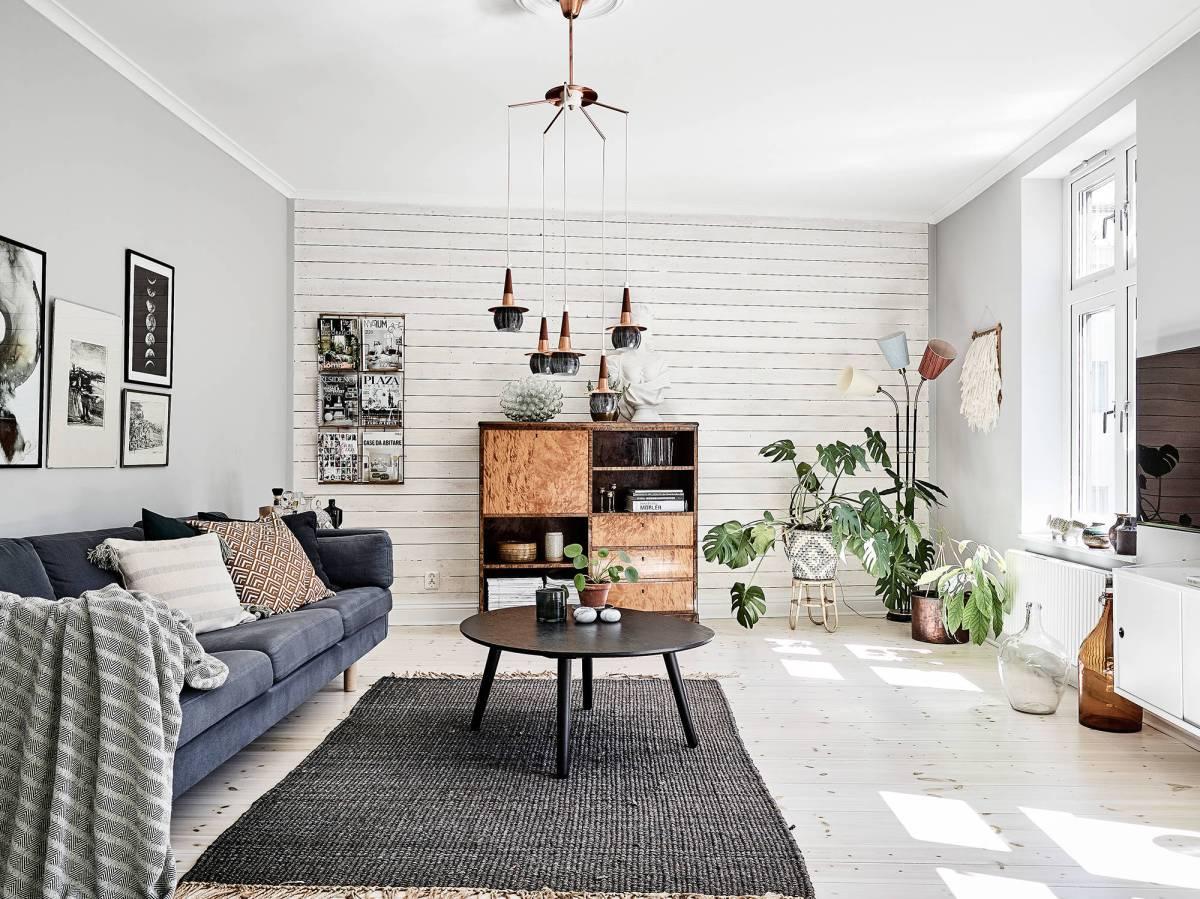 Paredes con paneles de madera blog tienda decoraci n - Decoracion paredes blancas ...