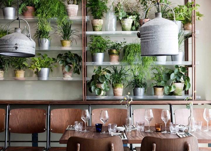 Väkst, un restaurante nórdico lleno de exuberante vegetación