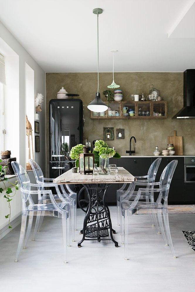 Peque o piso sueco con inspiraci n de india grecia e for Vivir en un piso pequeno con ninos