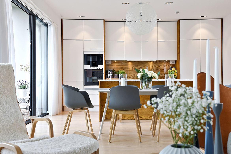 Ganar en amplitud con una cocina abierta al sal n blog - Salones con comedor ...
