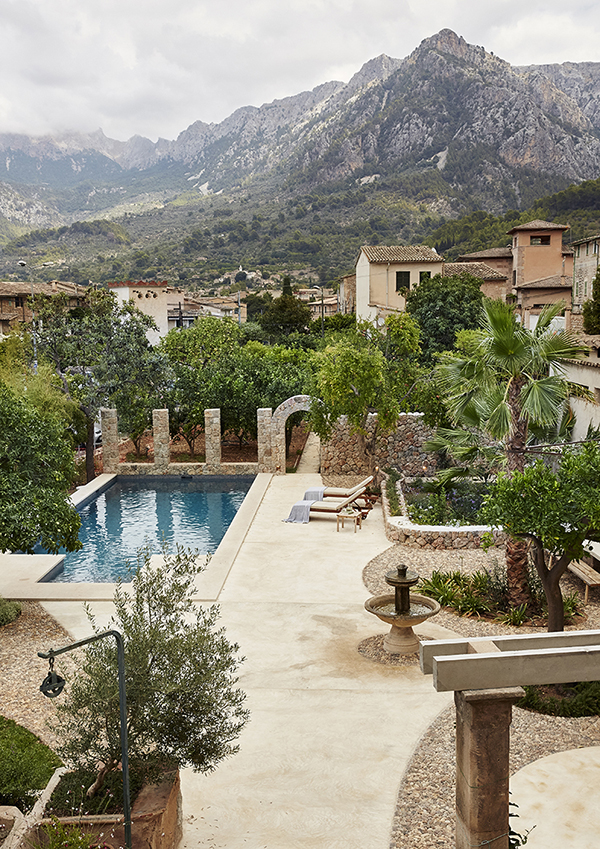 wood stone end of summer style nordic mediterranean style Mallorcan design of exterior decoration interior house vacation house stone stone house mallorca