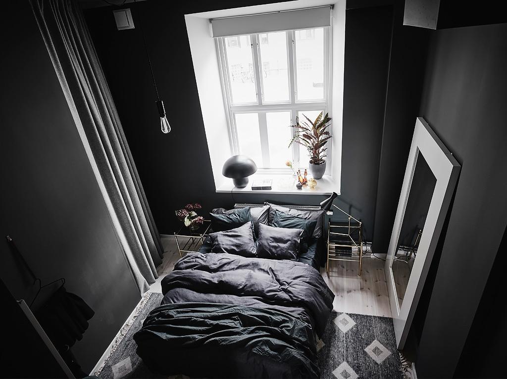 Dormitorio en negro blog tienda decoraci n estilo for Dormitorio oscuro decoracion