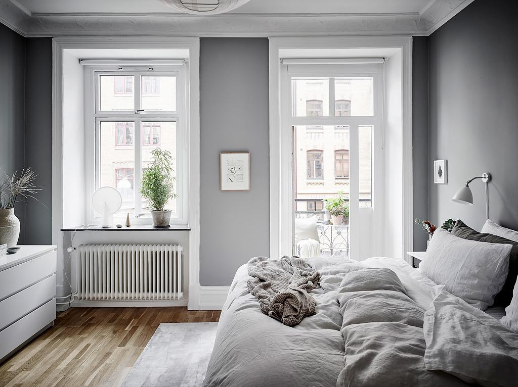Dormitorio fresco y acogedor en grises blog tienda for Decoracion piso 30 m