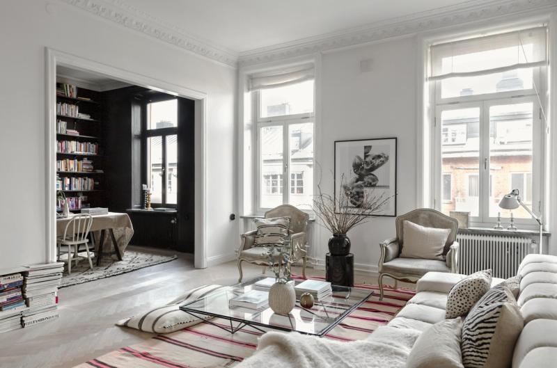 Salón blanco, comedor negro - Blog tienda decoración estilo nórdico ...
