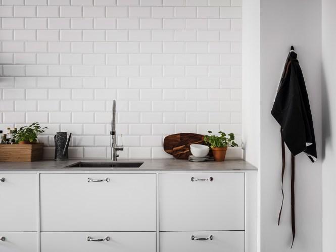 cocina escandinava armarios altos de cocina