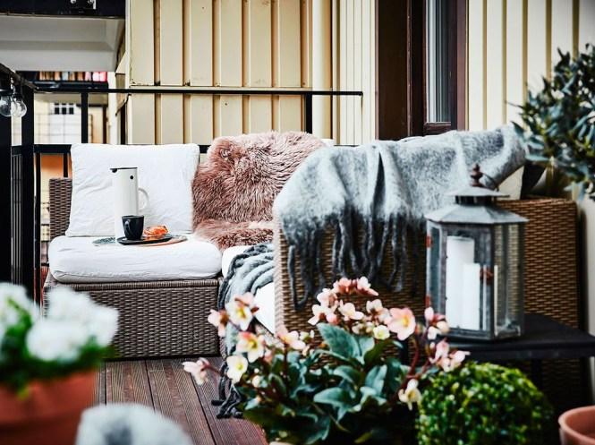 terrazas nórdicas hygge estilo escandinavo diseño exterior decorar terrazas decoración terraza nórdica balcones nórdicos